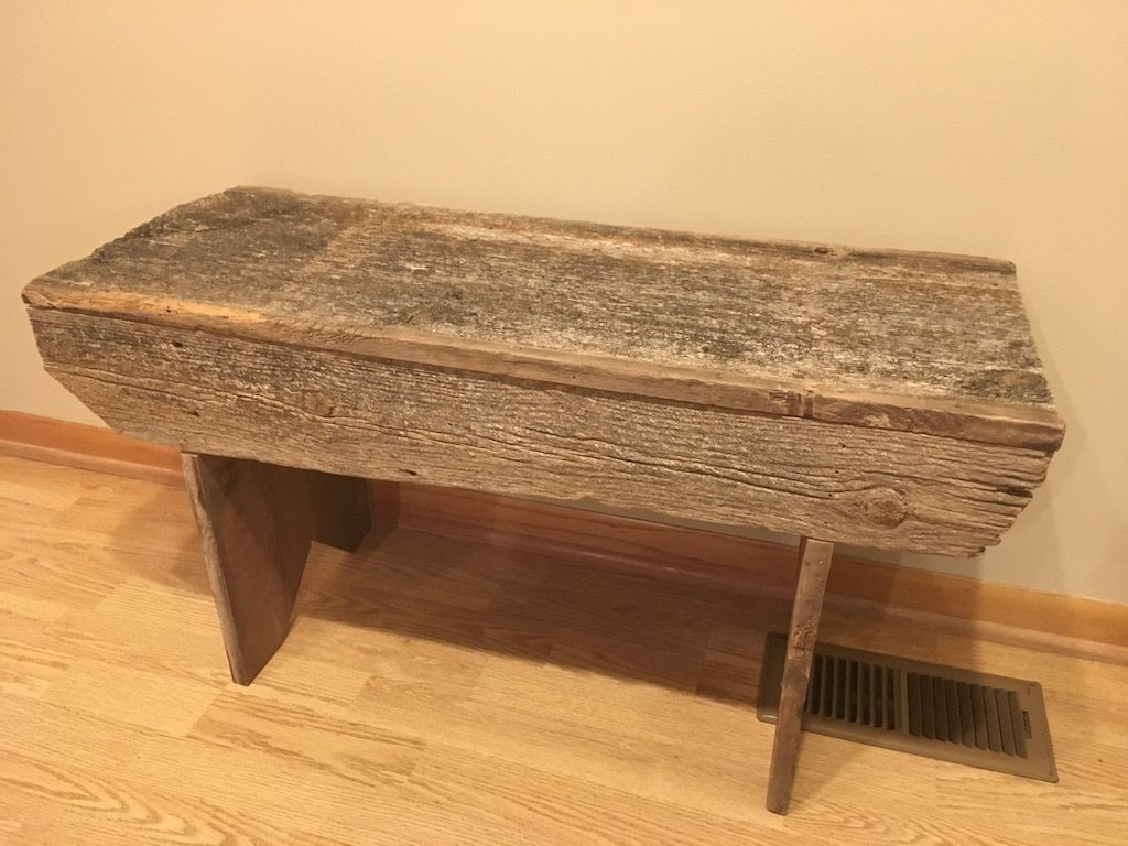 Surprising Rustic Farm Bench Made From Barnwood Handcrafted By Jason Camellatalisay Diy Chair Ideas Camellatalisaycom