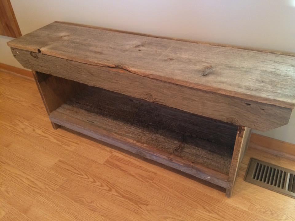 Groovy Rustic Farm Bench Made From Barnwood Handcrafted By Jason Creativecarmelina Interior Chair Design Creativecarmelinacom