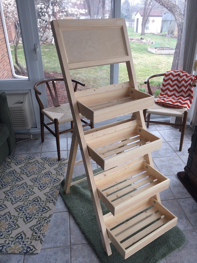 Folding Ladder Tray Made Of Pine